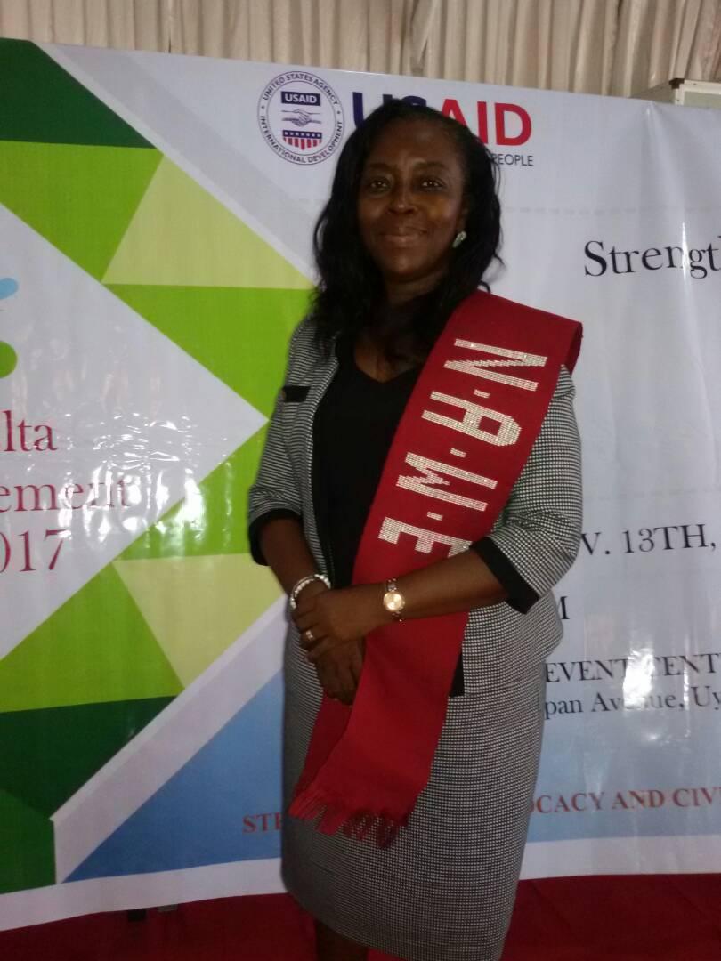 NAWE National Treasurer @ USAID event in Uyo